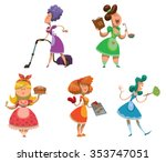 set of housewives. somebody... | Shutterstock .eps vector #353747051
