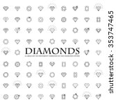 diamonds icons set  design... | Shutterstock .eps vector #353747465