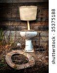 Photo Of An Old Broken Toilet...
