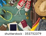holiday suitcase | Shutterstock . vector #353752379