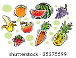 fruits category | Shutterstock .eps vector #35375599