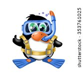 penguin  facial expressions   Shutterstock . vector #353761025