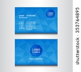 blue name card design template... | Shutterstock .eps vector #353764895