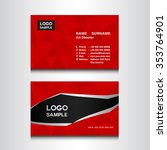 red name card design template... | Shutterstock .eps vector #353764901