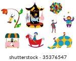 amusement parks stuffs | Shutterstock .eps vector #35376547
