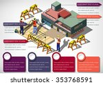illustration of info graphic... | Shutterstock .eps vector #353768591
