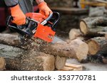 Close Up Professional Chainsaw...