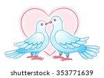 couple of doves kissing. eps10 | Shutterstock .eps vector #353771639