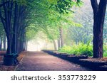 beautiful avenue in to the park | Shutterstock . vector #353773229