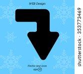 web line icon. arrow right  ... | Shutterstock .eps vector #353773469