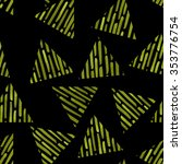 seamless fluorescent triangle... | Shutterstock . vector #353776754