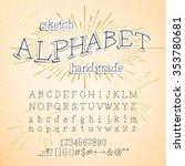 hand drawn alphabet. vector ink ... | Shutterstock .eps vector #353780681