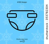web line icon. baby diaper ... | Shutterstock .eps vector #353782304