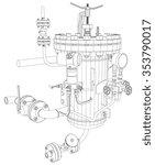 picture of heat exchanger with ... | Shutterstock .eps vector #353790017