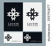 black and white symbols ... | Shutterstock .eps vector #353791877