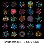 Holiday Color  Fireworks Icons...