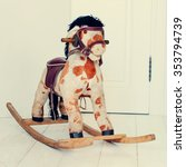 Antique Rocking Horse  Wooden...