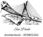 hand drawn brazil sao paulo... | Shutterstock .eps vector #353801261