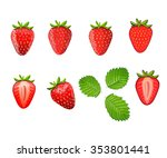 set of strawberries. different... | Shutterstock .eps vector #353801441