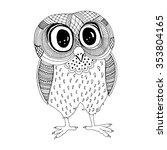 owl illustration. original...   Shutterstock .eps vector #353804165