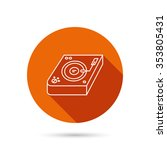 club music icon. dj track mixer ...   Shutterstock . vector #353805431