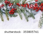viburnum with christmas tree... | Shutterstock . vector #353805761