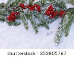 viburnum with christmas tree... | Shutterstock . vector #353805767
