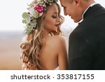 portrait of a girl and couples... | Shutterstock . vector #353817155