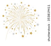 firework design on white... | Shutterstock .eps vector #353819411