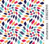 abstract geometric hipster... | Shutterstock .eps vector #353822945