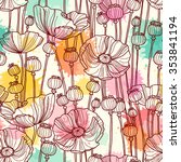 Seamless Pattern With Poppies....