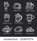 menu icons coffee and desserts... | Shutterstock .eps vector #353847074