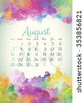 Beautiful Watercolor Calendar...