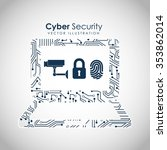 cyber security design  vector... | Shutterstock .eps vector #353862014