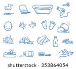 Set Of Baby Care Icons  With...
