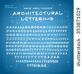 Hand Made Font 'architectural...