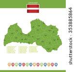 latvia map | Shutterstock .eps vector #353885864