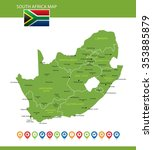 south africa map | Shutterstock .eps vector #353885879