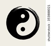 vector yin yang in a zen circle ... | Shutterstock .eps vector #353888021