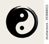 vector yin yang in a zen circle ... | Shutterstock .eps vector #353888021