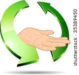 3d ecology hand. vector...   Shutterstock .eps vector #35389450