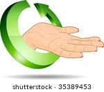 3d ecology hand. vector... | Shutterstock .eps vector #35389453