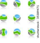 set of nature vector icons such ... | Shutterstock .eps vector #35389471