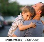 Little Boy Hugging Hugging...
