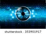 dark blue color light abstract... | Shutterstock .eps vector #353901917