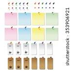 graphic elements  thumbtacks... | Shutterstock .eps vector #353906921