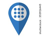 menu   vector icon  blue map ...