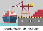 graphic of cargo port | Shutterstock .eps vector #353951909