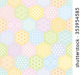 colorful hexagon pattern with... | Shutterstock .eps vector #353954585