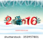 happy new year 2016  new year... | Shutterstock .eps vector #353957801